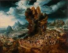 Herri met de Bles (1510-1555), Der Weg zum Kalvarienberg, um 1540, Öl auf Eichenholz, 57 x 72 cm, Schenkung Alber Koechlin-Stiftung 1999