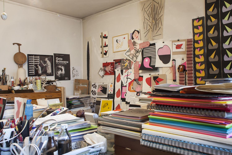 Geta Brătescu's studio, Bucharest, 2015 Foto: Ștefan Sava