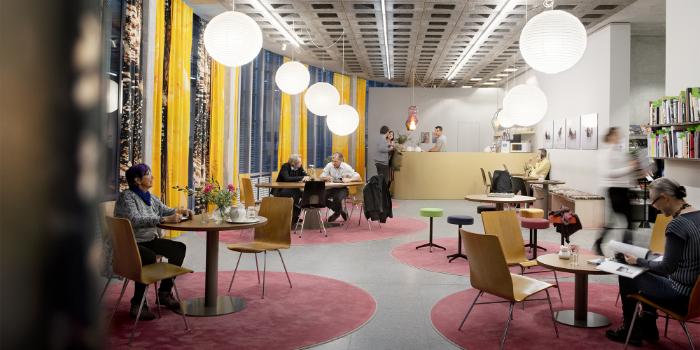Kunstmuseum St.Gallen, Café von Caro Niederer, Foto: Sebastian Stadler