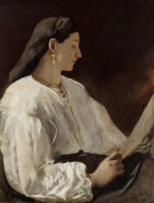 Anselm Feuerbach, Bildnis der Nanna, 1864/65, Öl auf Leinwand, 78 x 60 cm, Sturzeneggersche Gemäldesammlung, erworben 1936.