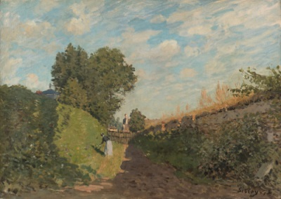 Alfred Sisley, Frühlingslandschaft bei Saint-Germain-en-Laye, 1876, Öl auf Leinwand, 38,5 x 55,5 cm, Kunstmuseum St.Gallen, Vermächtnis Emma Lina Hendel 1999.